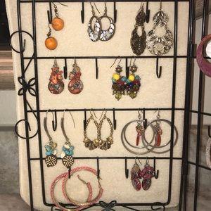 10 pair of earrings